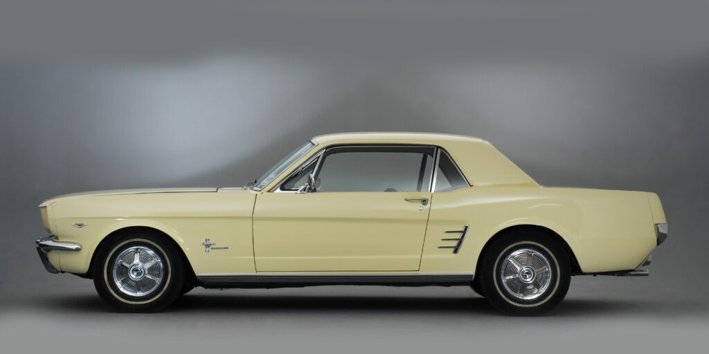 Yellow Ford Mustang